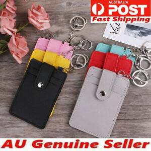 security nurse Id Card Holder Badge Wallet Purse Tag Neck Lanyard Key Chain Au