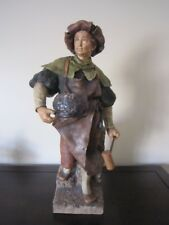 "Large 21"" GOLDSCHEIDER porcelain terracotta figurine of Blacksmith, circa 1900"