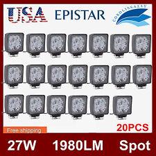 20pcs 27W LED Work Light SPOT Lamp Jeep Boat SUV Offroad Truck 4X4 12V24V SQUARE