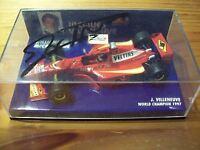1/43 WILLIAMS 1998 MECACHROME FW20 JACQUES VILLENEUVE SIGNED ON LID