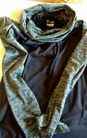 Old Navy Lighteight Woman's Jacket, SZ XS, Thumbhole, Black, w/ striped material