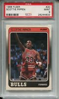 1988 Fleer Basketball #20 Scottie Pippen Rookie Card RC Graded PSA MINT 9 Bulls