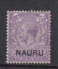 1916 NAURU 3d PALE VIOLET  SG7 - fine used
