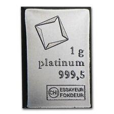 1 GRAM VALCAMBI .9995 FINE PLATINUM BULLION BAR FROM NEW SHEET OF 50