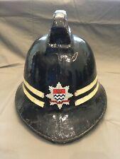 British 1960s London Fire Brigade helmet for Sub Officer rank  London England