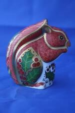 ROYAL CROWN DERBY CHRISTMAS SQUIRREL PAPERWEIGHT - NEW - BOXED
