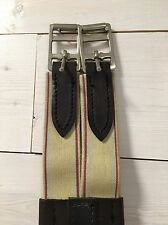 "New 48"" Girth Dark havana Leather, Triple elastic, Roller buckle w/ Split-end"