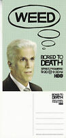 TV SERIES BORED TO DEATH HBO TED DANSON UNUSED ADVERTISING COLOUR  POSTCARD