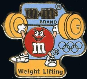 1992 Barcelona M&Ms Olympic Weight Lifting Sponsor Sports Pin