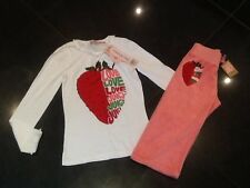 NWT Juicy Couture New & Gen. Girls Age 8 Pink Cotton Track Pants & T-Shirt