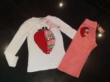 NWT JUICY COUTURE Nuevo & Gen. niña Edad 8 Rosa Algodón Pantalón deportivo &