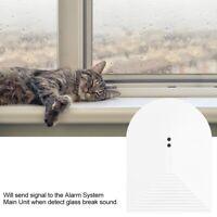 Wireless Vibration Glassbreak Glass Break Sensor Detector Home Security Alarm