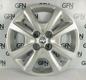 "Genuine Vauxhall Corsa E 15"" wheel trim X 4 (metallic silver) 13380937AAMP"