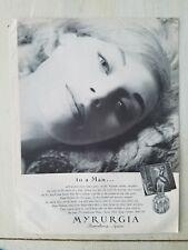 1962 Myrurgia Barcelona Spain perfume bottle to a man ad