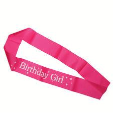 Sash en rosa/rojo fiesta de cumpleaños accesorios decoración niñas noche