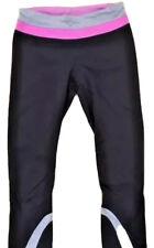 LULULEMON RUN INSPIRE CROP PANTS Black w Pink & Silver size 4 Spin Running Gym