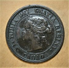 Canada 1 Large Cent 1882-H Very Fine Coin - Queen Victoria