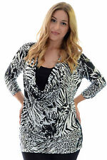 Hip Length Animal Print No Casual Tops & Shirts for Women