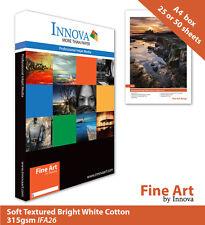 Innova Soft Textured Bright White Cotton Inkjet Paper 315g A4 25