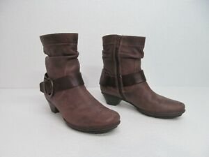 Pikolinos Brujas Brown Leather Ankle Booties Buckle Size Women's 37