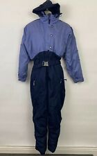 Columbia Womens Medium Ski Snow Suit blue hooded long sleeved one piece pants