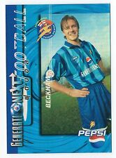 Rara Pepsi Cola 1997 Tailandia tarjeta de fútbol David Beckham Manchester Man United