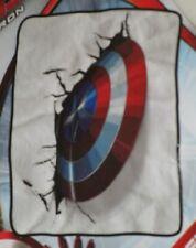 New Shield Captain America Plush Throw Gift Blanket Marvel Avengers End Game Nip