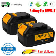 2Pack Hot 4000mAH Battery For Dewalt 20V Max XR DCB200 DCB201 DCB181 Power Tools