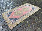 Bohemian rug, Handmade wool rug, Turkish vintage rug, Carpet | 3,5 x 6,3 ft