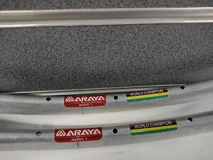 "Vintage Araya Aero1 World Champion 28H x 28"" 700 Ex-Display 1Pair (2)"