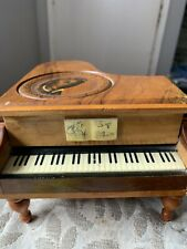 Reuge Vintage Swiss Wooden Wind Up Piano Shaped Music Box 'Gladys'
