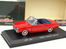 Detalle Cars 1/43 - Ford Taunus Cabriolet 1960 Rojo