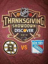 THANKSGIVING SHOWDOWN T SHIRT Boston Bruins New York Rangers NHL Hockey 2013 SM