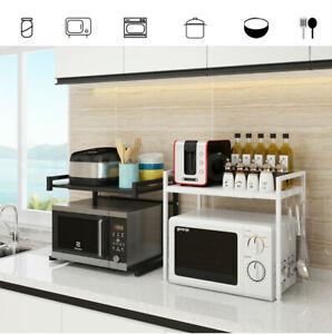 Kitchen Microwave Oven Metal Shelf  Rack Adjustable Stand Organizer Storage