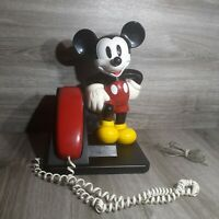 1991 Vintage AT&T Collectible Mickey Mouse Push-Button Operational Phone