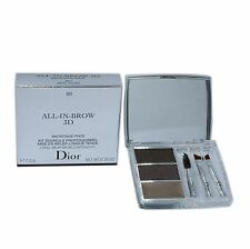 ALL-IN-BROW 3D BACKSTAGE PROS LONG-WEAR BROW CONTOUR KIT 7.5G #001 BROWN NIB