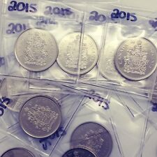 2015 Canada 50 Cent Coin From BU Roll Sealed In Acid-Free Package #coinsofcanada