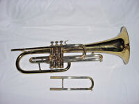 VINTAGE GETZEN FRUMPET FRENCH MARCHING HORN  F AND E FLAT SLIDES USA