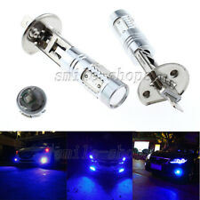 2pcs H1 High Power 11W Blue COB LED Projector Bulbs For Car Fog Driving Lights