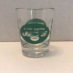 New York Jets Logo And Word Mark Shot Glass NFL Football Man Cave NYC AFC 1.75oz