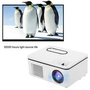 Portable 1920*1080P FHD TFT LCD Projector Home/Office Theater Cinema Multimedia