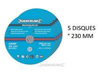 5 DISQUE 230 MM A TRONCONNER LE METAL ° 230 X 3 X 22.2 MM POUR TOUTE MEULEUSE
