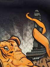 3XL NAVY T-SHIRT Mint XXXL ORANGE SQUID EMPIRE STATE BUILDING Cotton Made in USA