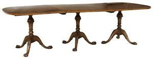 Antique Table, Dining, Chippendale Style Triple Pedestal,Early to mid 1900's!!