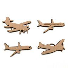 Wooden MDF Aeroplane Craft Shapes Wall Art Embellishments Decoration