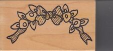 "bow border azadi Wood Mounted Rubber Stamp 1 1/2 x 3""  Free Shipping"