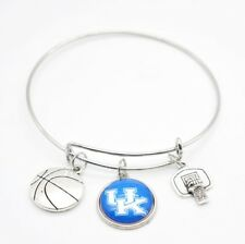 University of Kentucky Wildcats Logo Bracelet Silver Bangle Sold AS/IS  New