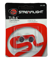 Streamlight TLR 6 Rail Mount Replacement CR 1/3N Lithium Battery 2/Pack 69271