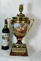 Gorgeous antique vienna porcelain porcelain hand paint Romantic Vase lamp