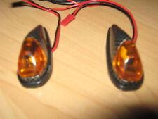 Amber Flush Mounting LED Carbon Indicators Car Bike Trike Trailer 4x4 Horsebox